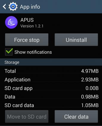 Программа Apus launcher на Android