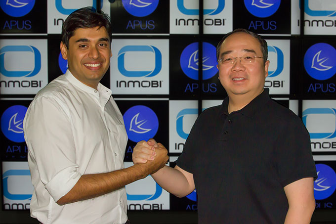 India and China Giants, InMobi and APUS, Partner for Global Growth